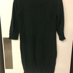 Forrest green sweater dress